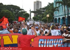 4MarchaGye-Ecuadortimes-Ecuador news-Noticias de Ecuador