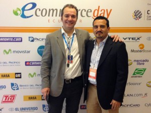 Marcos Pueyrredon, president of the Latin American Institute of Electronic Commerce and Carlos Zuniga, representative of Ecuadortimes