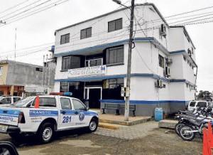 El Triunfo Police headquarters.